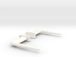 1.6 AW 109 PITOT TUBE in White Processed Versatile Plastic
