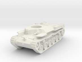 Japanese WWII Chi-ha tank Hull 1:100 15mm  in White Natural Versatile Plastic