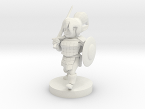 Gnome  Female Fighter in White Natural Versatile Plastic