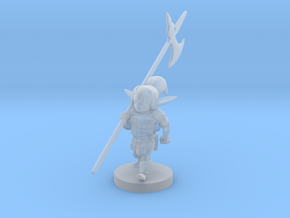 Gnome Female Fighter - Pike weilder in Smooth Fine Detail Plastic