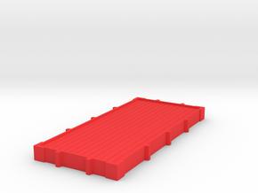 Tri-ang Big Big Train Trolleywagon Base floor in Red Processed Versatile Plastic