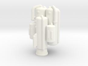 Konami Space 1999 Heavy Lift Booster - NO POD! in White Processed Versatile Plastic