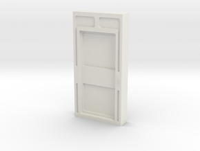 Door, Single Closed W Threshold (Space: 1999) 1/30 in White Strong & Flexible