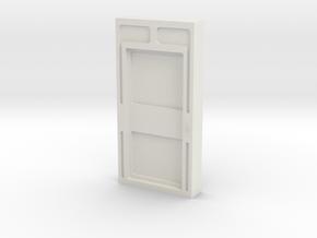 Door, Single Closed W Threshold (Space: 1999) 1/30 in White Natural Versatile Plastic