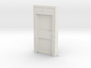Door, Single Closed No Thrshold (Space: 1999) 1/30 in White Natural Versatile Plastic
