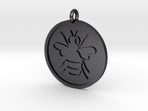 Bee Pendant in Polished and Bronzed Black Steel