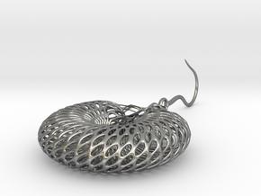 Earring Stl in Natural Silver (Interlocking Parts): Medium