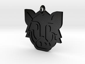 Boar Pendant in Matte Black Steel