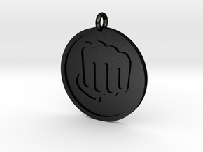 Fisted Hand Pendant in Matte Black Steel
