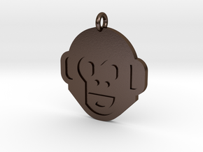 Monkey Pendant in Polished Bronze Steel