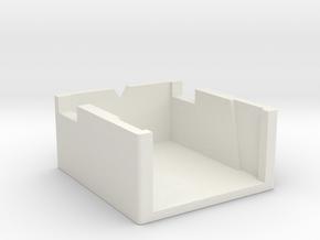 Dual Turntable Cartridge Alignment Gauge in White Natural Versatile Plastic