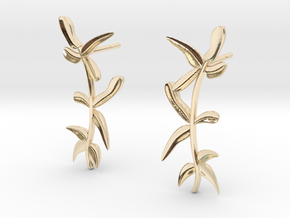 """At The French Window"" Laurel Earrings - SMK in 14K Yellow Gold: Small"