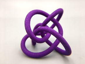 Perko Knot in Purple Strong & Flexible Polished