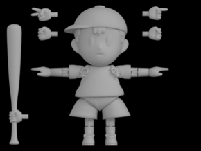 Ness Super Poseable Action Figure Kit Ver. 2 in White Processed Versatile Plastic