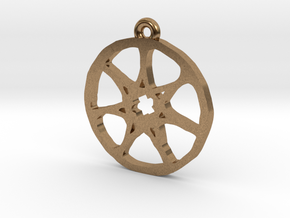 7 Pointed Star Pendant - Game of Thrones in Natural Brass