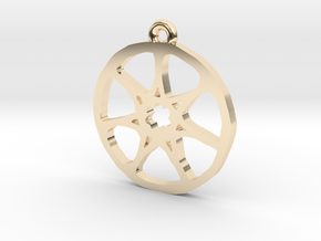 7 Pointed Star Pendant - Game of Thrones in 14k Gold Plated Brass