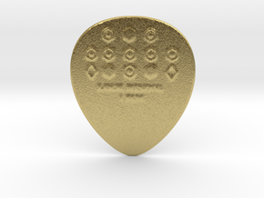 Luck Rising 1mm Raw PICK Guitar in Natural Brass