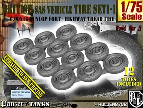 1/75 HW 600x16 Tire Set1-1 in Smoothest Fine Detail Plastic