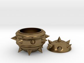 High-Poly Stickybomb Bowl in Natural Bronze: Small
