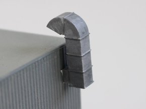 N Scale 2x Ventilation Duct in Smooth Fine Detail Plastic