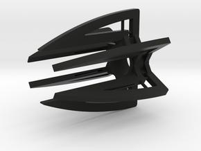 Claws Hexa in Black Natural Versatile Plastic