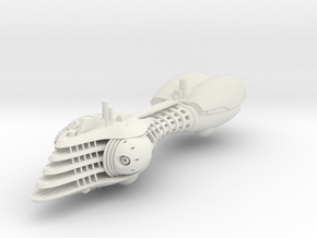Last Exile. Disith Warship in White Natural Versatile Plastic