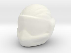 1/24 Racing Helmet in White Natural Versatile Plastic