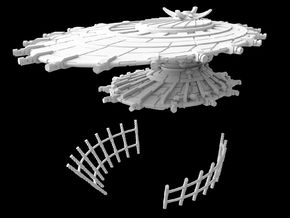 "(Armada) Hapan Battle Dragon ""3 Parts"" in White Natural Versatile Plastic"