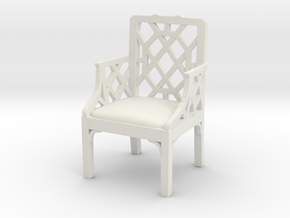 ArmChair 01. 1:12 Scale in White Strong & Flexible
