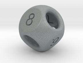 Hidden Odd Numbers D8 Dice in Polished Metallic Plastic