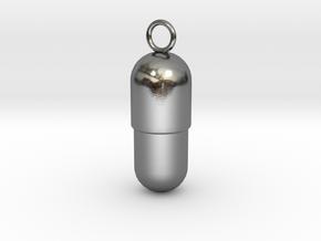 Prescription Pendant (L) in Polished Silver