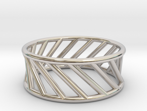 Hyperboloid Ring in Rhodium Plated Brass: 12 / 66.5