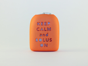 Keep Calm and Bolus On - Omnipod Pod Cover in Orange Processed Versatile Plastic