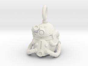 Power armor pendant in White Natural Versatile Plastic