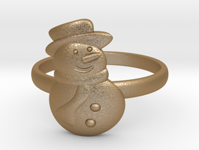 Snowman Ring in Matte Gold Steel: 4.5 / 47.75