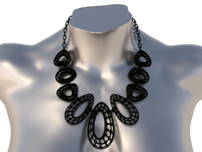 Elegant Necklace in Black Natural Versatile Plastic