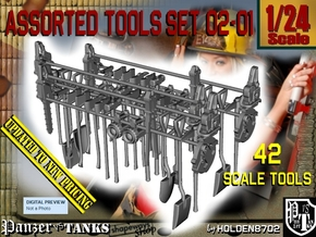 1/24 Assorted Tools UPDATED Set 02-01 in Smooth Fine Detail Plastic