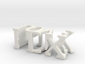 3dWordFlip: PDX/LOVE in White Natural Versatile Plastic