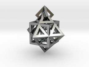 Gamma Star Earring in Polished Silver (Interlocking Parts)