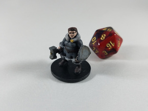 Female Dwarf Cleric - Augrek Brighthelm in White Strong & Flexible
