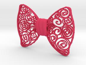 Spirals in Pink Processed Versatile Plastic
