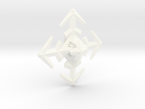 Snowflake D8 in White Strong & Flexible Polished