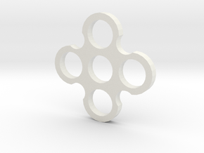 Quad Spiner in White Natural Versatile Plastic