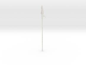 """BotW"" Lizal Spear in White Natural Versatile Plastic: 1:12"
