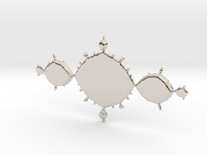 Fractal Tri-Polygon - Polished Bronze in Platinum: Small