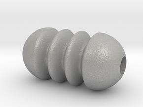 DRAW pendant - tiny ripples in Raw Aluminum