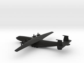 Antonov An-22 Antei in Black Natural Versatile Plastic: 1:600