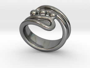 Threebubblesring 15 - Italian Size 15 in Fine Detail Polished Silver