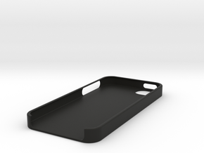 IPhone 5 Case in Black Natural Versatile Plastic
