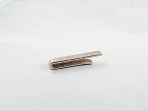 Modern Tie Bar in Polished Bronzed Silver Steel